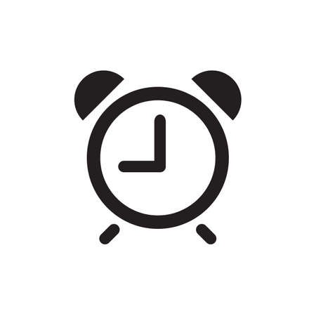 timepiece: Vector time or clock icon,  template, pictogram. Modern emblem for business, market, shop, internet, design. Trendy simple watch, timepiece or timer, symbol.