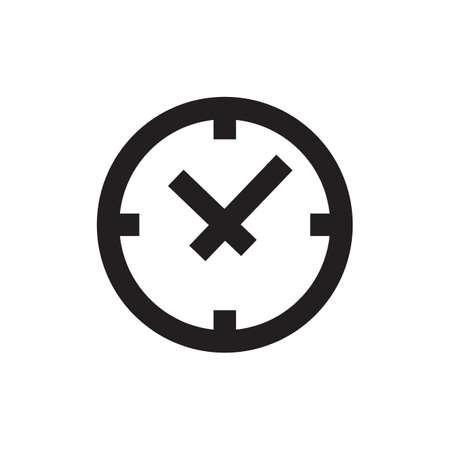 ベクトル時間または時計のアイコン、テンプレート、絵文字。ビジネス、市場、ショップ、インターネット、デザインのモダンなエンブレム。トレ