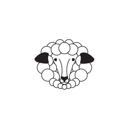 Schaf Design Auf Weißem Hintergrund Lizenzfrei Nutzbare