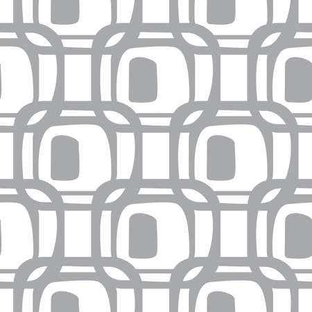 grey background texture: Abstract monochrome geometric pattern, seamless vector background. Simple grey and white repeating texture. Modern contrast graphic with retro elements.