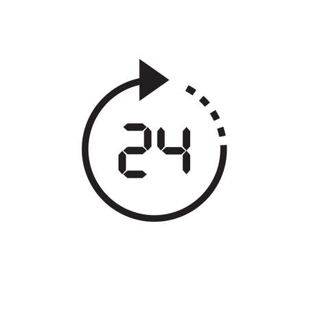 timepiece: Vector time or clock icon, logo, template, pictogram. Modern emblem for business, market, shop, internet, design. Trendy simple watch, timepiece or timer, symbol.