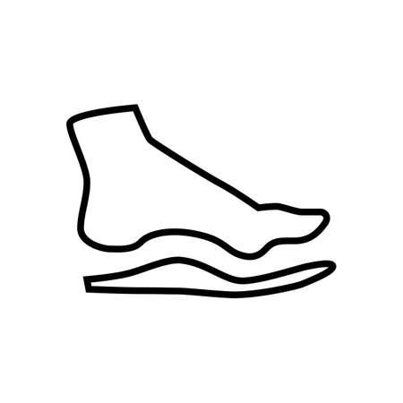 hombre de pie descalzo con plantilla ortopédica. la corrección del pie médica Ilustración de vector