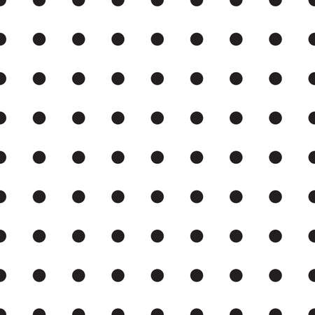 ball point: Abstract monochrome geometric pattern, seamless background. Simple black and white repeating texture with dots, circle, ball or point.