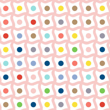 strange: Seamless background with multi-colored bars and dots. Strange pattern