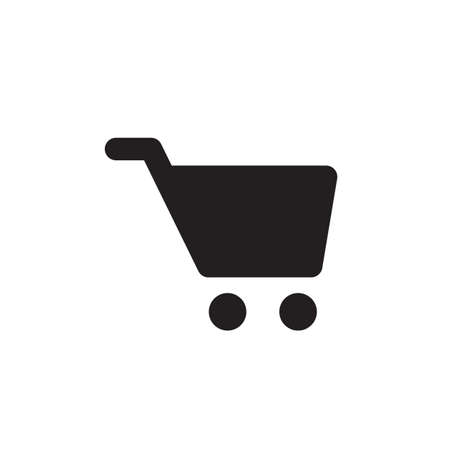 shopping cart icon: Vector shopping cart icon