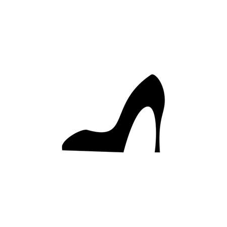 footwear: Shoes vector icon. Womens boots logo or silhouette isolated. Footwear sign or symbol