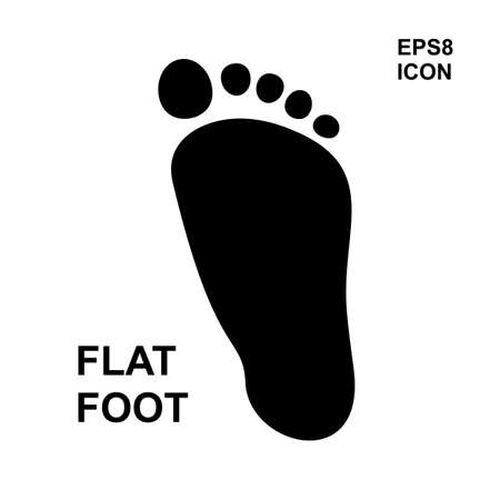 Flat foot simple vector icon isolated. Pillow imprint for the diagnosis of flatfoot