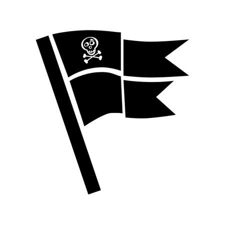 roger: Pirate flag icon vector isolated. Jolly Roger sign