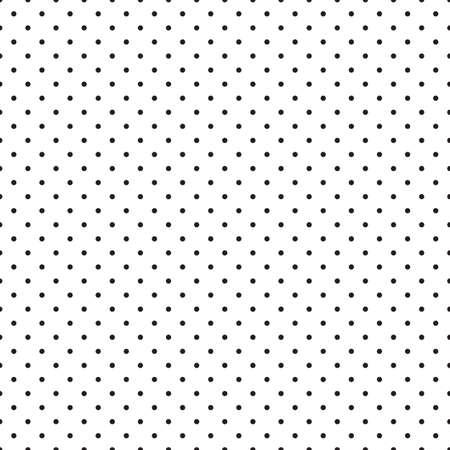 Abstracte zwart-wit geometrisch patroon, naadloze achtergrond. Eenvoudige zwart-wit herhalende textuur met stippen, cirkel, bal of punt.