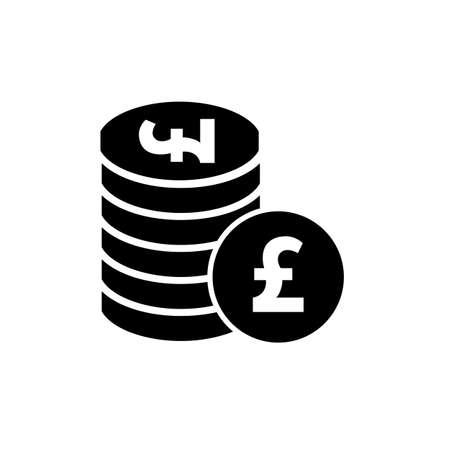 money pound: Money pound vector icon or flat sign. National UK currency symbol isolated