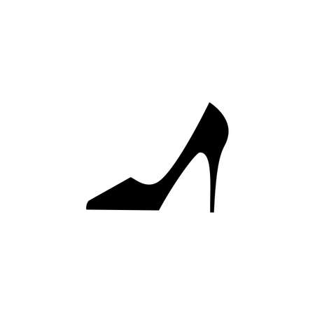 heel: Shoes vector icon. Womens boots logo or silhouette isolated. Footwear sign or symbol