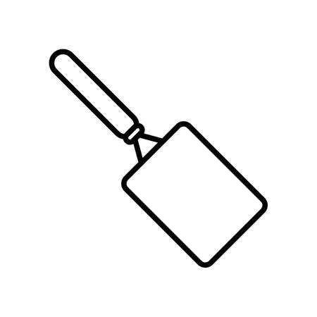 roughcast: Garden or cement trowel simple vector icon isolated on white background