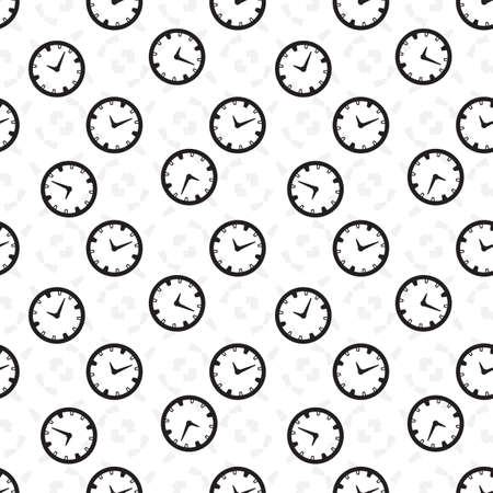 old wallpaper: Time vector seamless background. Endless pattern with clocks.