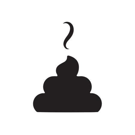 Semplice icona Poop isolato su sfondo bianco