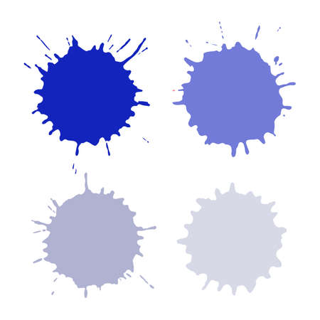 Colored blots or spots isolated on white background Illustration