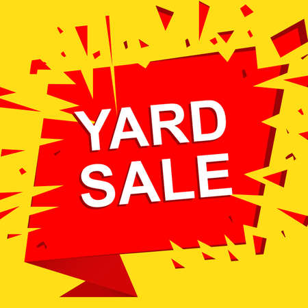 Big Sale Poster With YARD SALE Text. Advertising Boom And Red ...