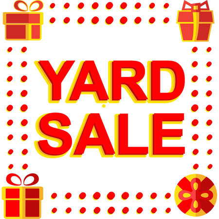 yard sale: Big winter sale poster with YARD SALE text. Advertising banner template