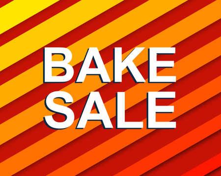 Sprzedaż plakat z BAKE tekst sprzedaż. Reklama czerwony sztandar szablon Ilustracje wektorowe
