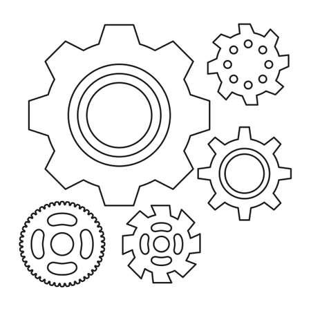 Einfache Zahnrad Oder Zahnrad Vektor Icon. Maschine, Technologie ...