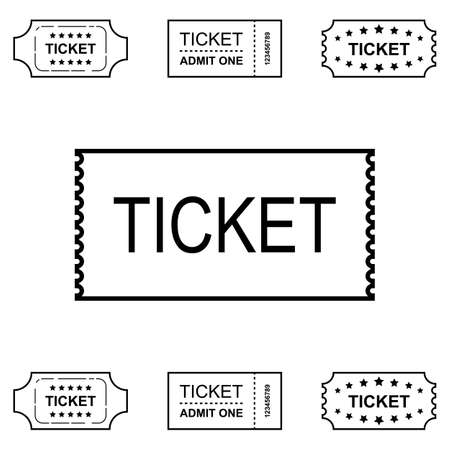 event icon: Ticket Icon Isolated on White Background Vector Illustration Illustration