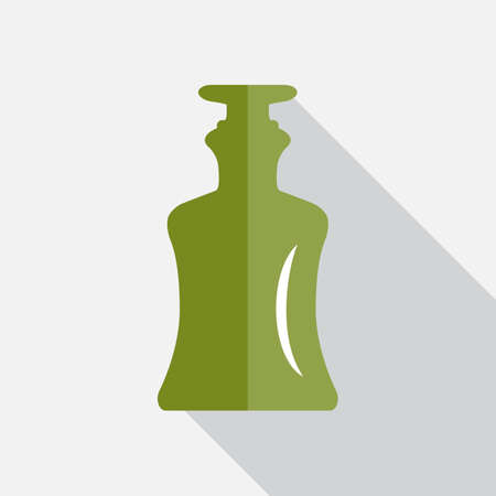 Old Medicine or Retro Wine Bottle Icon. Vintage Glass Flask Silhouette Bottle Isolated Illustration