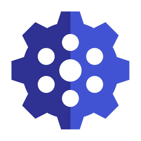 Simple Gear Or Cog Wheel Vector Icon. Machine, Technology, Equipment, Engine, Mechanism Sign