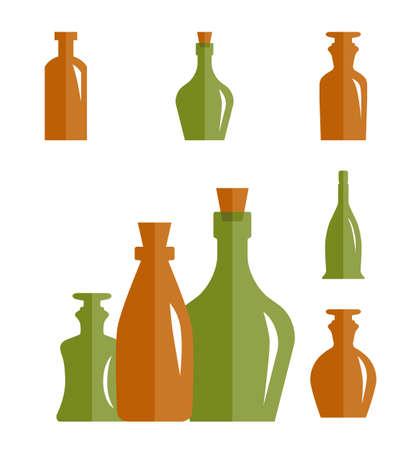 Old Medicine or Retro Wine Bottle Icon. Vintage Glass Flask Silhouette Bottle Isolated Illustration