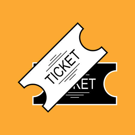 Set of Ticket Icon Isolated. Vector Illustration Illustration