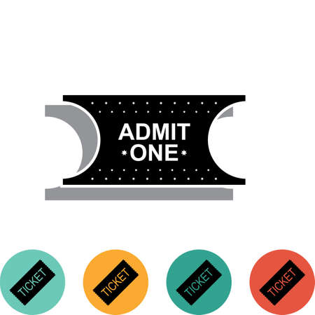 admit: Ticket Icon Isolated on White Background Vector Illustration Illustration