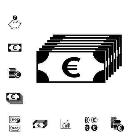 Euro Vector Icon Of Pictogram Gesoleerd Cash Symbol Royalty Vrije