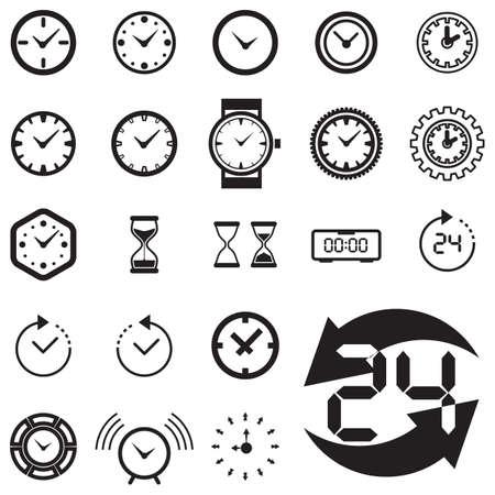 Vector Zeit Oder Uhr-Symbol, Logo, Vorlage, Piktogramm. Moderne ...