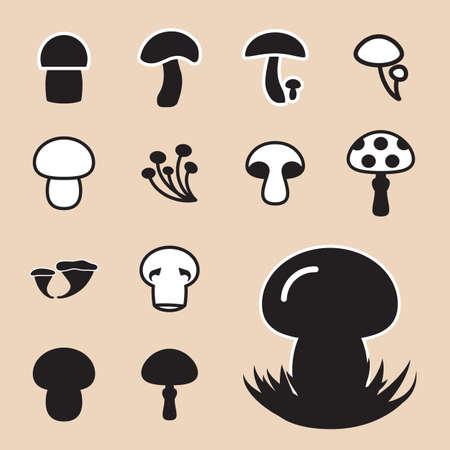 Mushroom Icon or Logo Isolated . Fungus Symbol For Eco Design