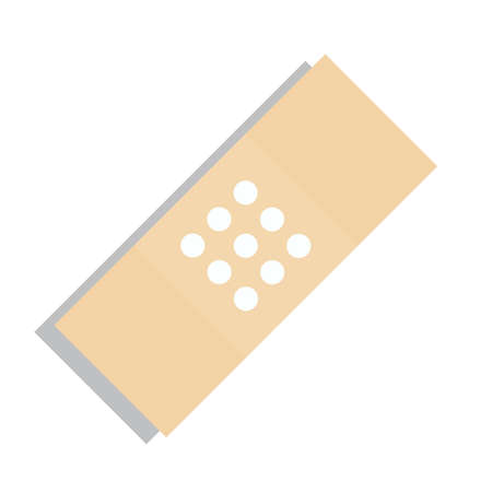 Beige Plaster Or Band Aid Icon Medical Patch Symbol Royalty Free