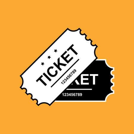 Set of Ticket Icon Isolated. Vector Illustration Illustration