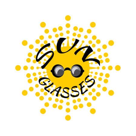 Vector Sun Glasses for Web or Sale Design. Hot Summer Symbol Illustration