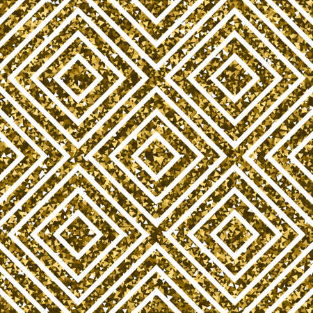 Gold Pattern or Background with Squares. Luxery Vector Illustration Illustration