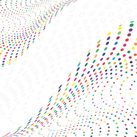 Multicolored Halftone Vector Pattern or Texture. Stipple Dot Backgrounds with Circles