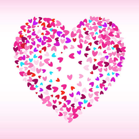 heart tone: Stipple Dot Backgrounds with Little Pink Hearts. Halftone Pattern or Texture. Vector Illustration