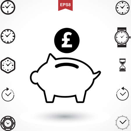 Money Pound Icon or Flat Sign. National UK Currency Vector Symbol Isolated Illustration