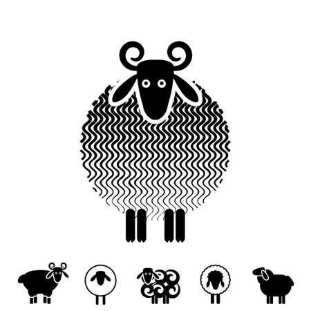 Sheep Or Ram Icon, Logo, Template, Pictogram. Trendy Simple Lamb ...