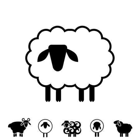 Sheep or Ram Icon, Logo, Template, Pictograph.