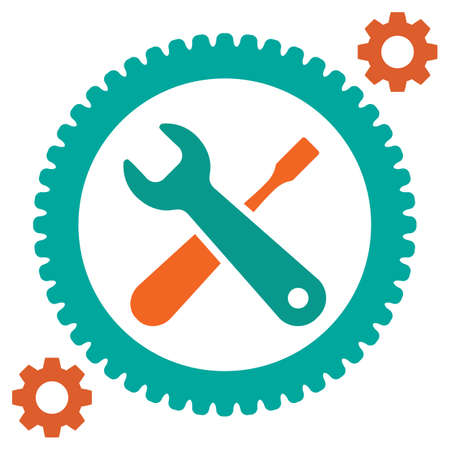 Service tool icons isolated on white background. Options vector illustration. Settings symbol with gears and spanner Illustration