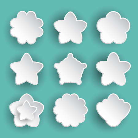 Flower Icon Collection Daisy Symbol Or Logo Template Pictogram