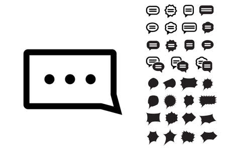 communication cartoon: Speech Bubble Vector Icon Collection. Set of Thought Bubbles Illustration