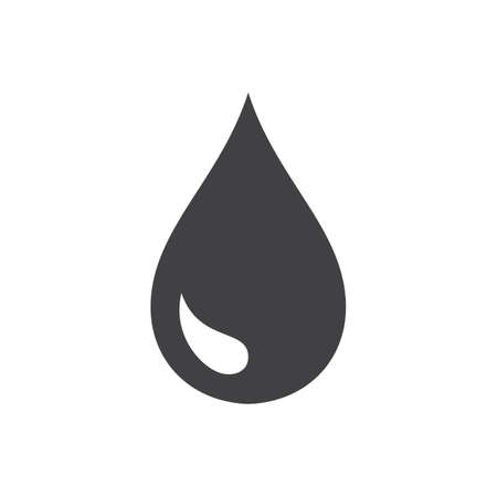 Black drop vector icon or rain icon isolated on white background Ilustracja