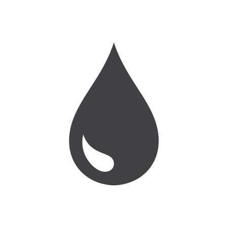 Czarna kropla wektor ikona lub ikona deszczu na białym tle