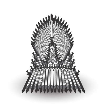 Iron throne for computer games design. Vector illustration Illustration