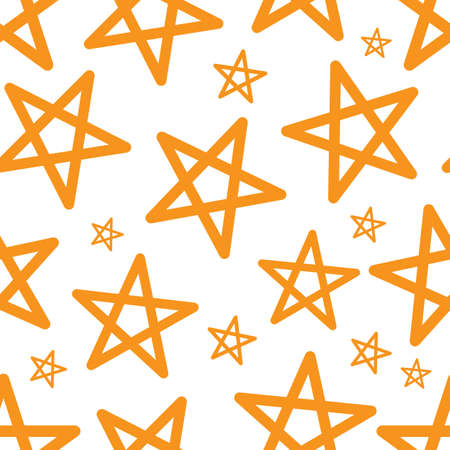 Star Seamless Pattern Vector Illustration. Cute Christmas Background