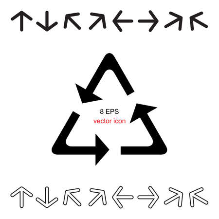 Decorative arrow icon set isolated on white background