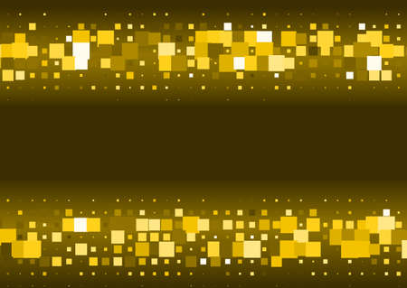 Halftone background made of gold squares. Festive vector pattern for christmas and holiday design. Luxery shining geometric texture Illustration